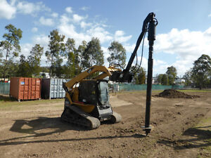 Screw pile / anchor dives for skid steers and excavators