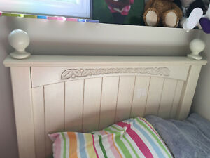 Beautiful country bed with mattress and boxspring