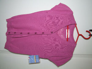 brand new with tag gir's pink cable knit cardigan sweater size 8 London Ontario image 1