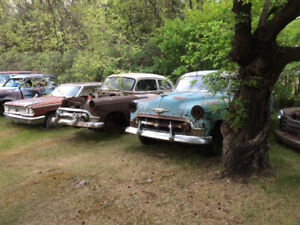 1953 chev 2dr post and parts car