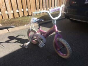 Girl's first  bike-pink-