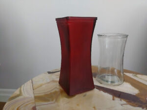 2 Free Glass Vases
