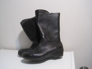 7 size leather short boots, $45