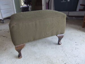 vintage solid wood footstool in great shape