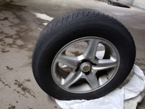 Honda Civic Summer Tire with Mags P185/70R14 S  - 16 In