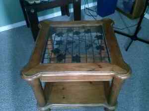 Moving sale:End table,bench,chairs,  Apollo statue