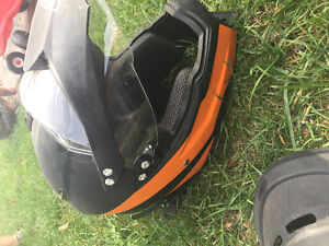 Dirt bike/motor cross helmet and chest protector