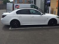 BMW 525d sport 2005 white £5500 Number plate not included