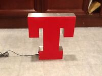 Brand new Big Red Illuminated Tennents sign.