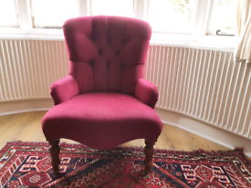 Button back armchair. Chair