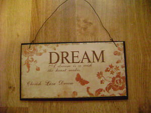 "Lovely Inspirational Wall Plaque (8.5""x4.5"")"