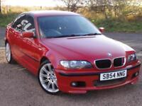 BMW E46 320i M Sport Saloon, Manual, 2004,106k Miles, Imola Red, 1 Year MOT