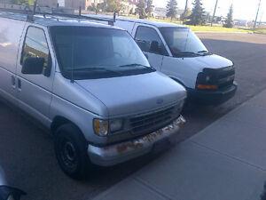 1994 Ford E-150 cargo Minivan, Van