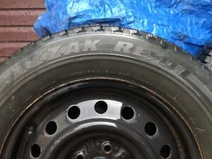 Winter Tires (215/65R16) on Rims, with Covers