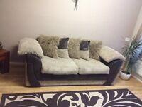 sofa 3+2 brown beige