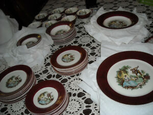 set de vaisselle serenade sebring 22kt antique rare dish set