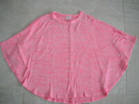 Girls Pink Justice Poncho Size 12/14
