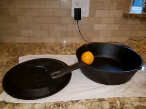 12 inch cast iron skillet pan 4inches deep