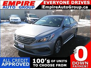2016 HYUNDAI SONATA SPORTS TECH * LEATHER * SUNROOF * NAV * REAR