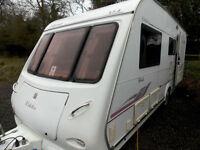 Elddis Odyssey 524 2007 4 Berth Touring Caravan Centre Dinette Rear Washroom