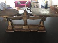 Large heavy vintage kitchen scales