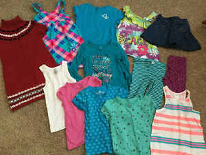 Big lot - Girls SUMMER CLOTHES size 5-6 (odd size 4, fits large)