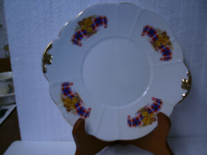 "Vintage Windsor ""Royal Canadian Tartan"" Handled Cake Plate"