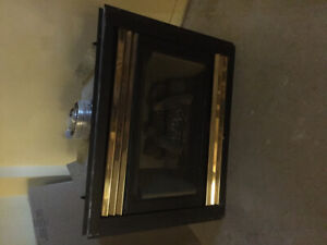 Gas fire place with blower