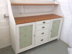 Large pine shabby chic sideboard