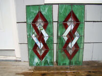Large 2 Stained GlassWindow Wall Hangings Perfect Suncatchers
