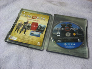 PS4 - GOD OF WAR Steelbook with GOW GAME