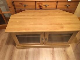 TV Unit Corner Cabinet Oak Style