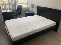 HURRY! Bed Frame, Mattress, Side Table &Lamp FOR SALE!!