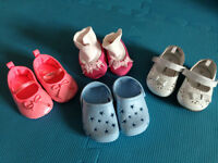 Baby Girls Shoes Sizes 1-2 (0-3months)