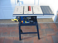 "Mastercraft 10"" table saw for sale"