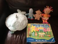 Pillow Pet, and In The Night Garden wooden Puzzle plus Character Soft