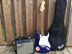 Fender strat electric guitar with gig bag and amp Kitchener / Waterloo Kitchener Area image 1