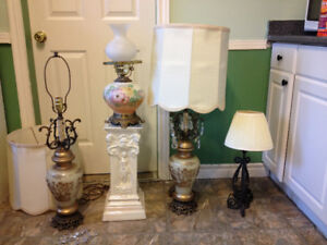 lamps-individually or all 4 including pedestal