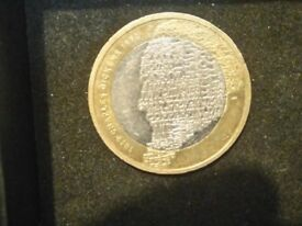 Charles Dickens (Very Rare) £2 coin with the 3 Royal Mint errors