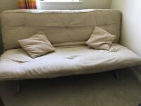 Metal frame double sofa bed