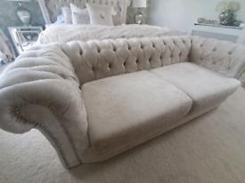 3 Seater Crushed Velvet Sofa