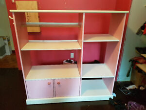 Étagère, bibliotheque,  meuble de rangement pour fillette