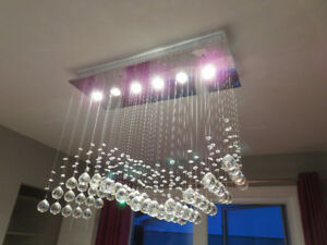Crystal Chandelier, ceiling lamp / Luminaire, plafonnier moderne
