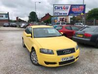 04 AUDI A3 SPECIAL EDITION 1.6 PETROL IN YELLOW *MOT TILL MAY 2019* £1295