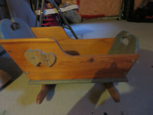 Doll Baby Wooden Cradle