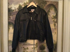Leather Jacket - Like new! Comes to Waist