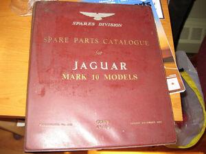Jaguar Mark 10 Spare Parts Catalogue + 77 Ford Truck manuals