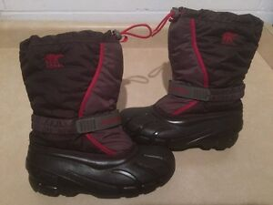 Kids Sorel Insulated Winter Boots Size 6