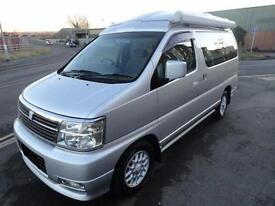 2000 Nissan Elgrand ELEVATING CAMPER ROOF FRESH IMPORT BONGO 3.5 4dr