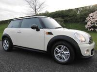 2011 MINI ONE DIESEL ** ZERO ROAD TAX ** PEPPER WHITE ** LOW MILEAGE **